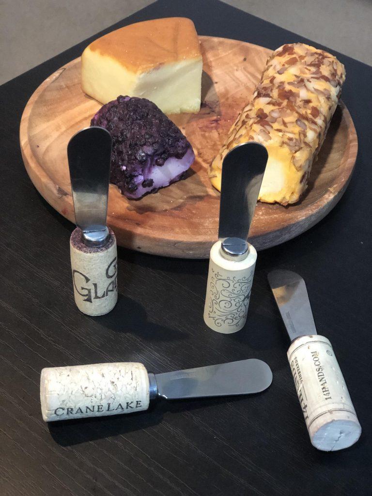 Wine Cork Cheese Spreader Knife