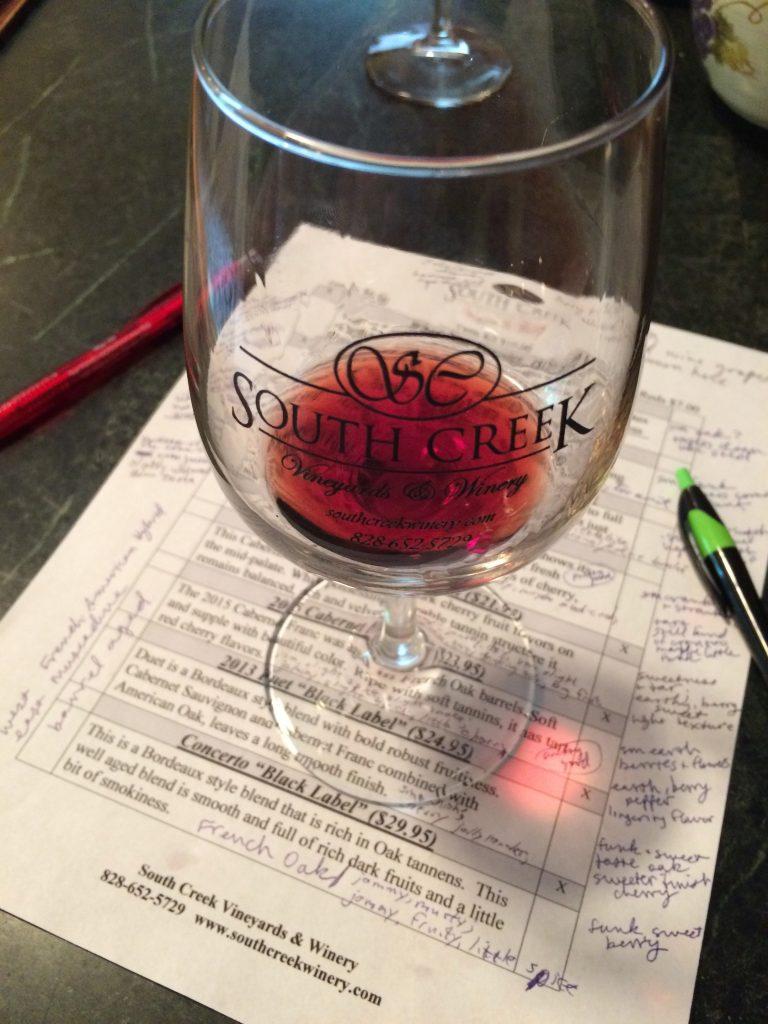 South Creek Vineyard and Winery Wine Tasting