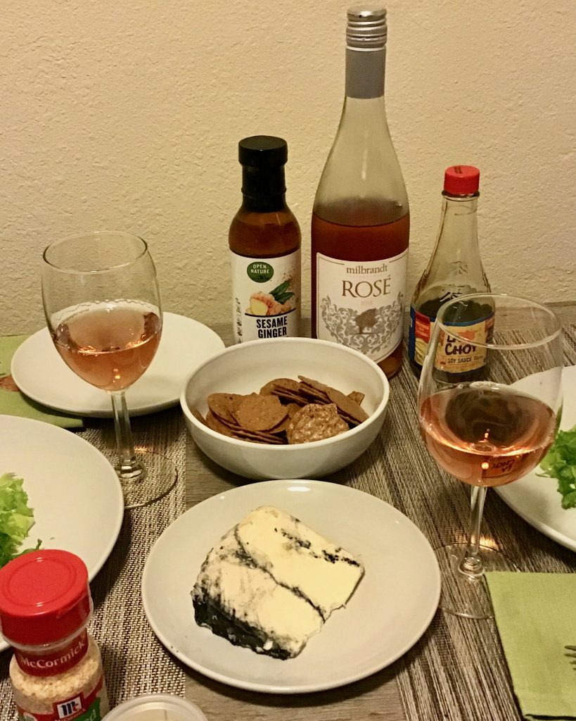 Milbrandt Rosé, Wasabi Crusted Scallops & First Snow Cheese