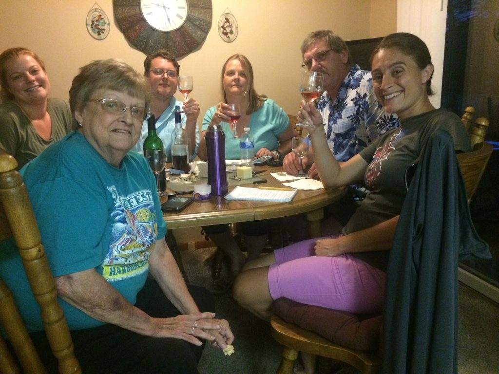 Tasting at Aunt Kathy's with lots of goodies! 2017