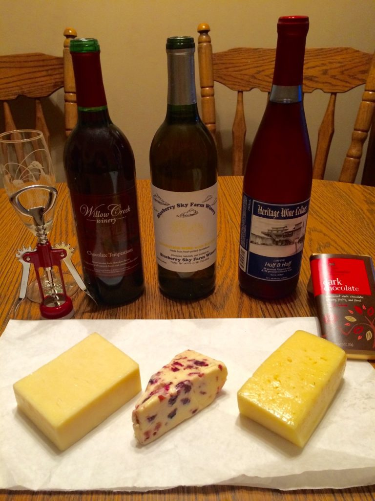 wine and cheese tasting at aunt kathys house