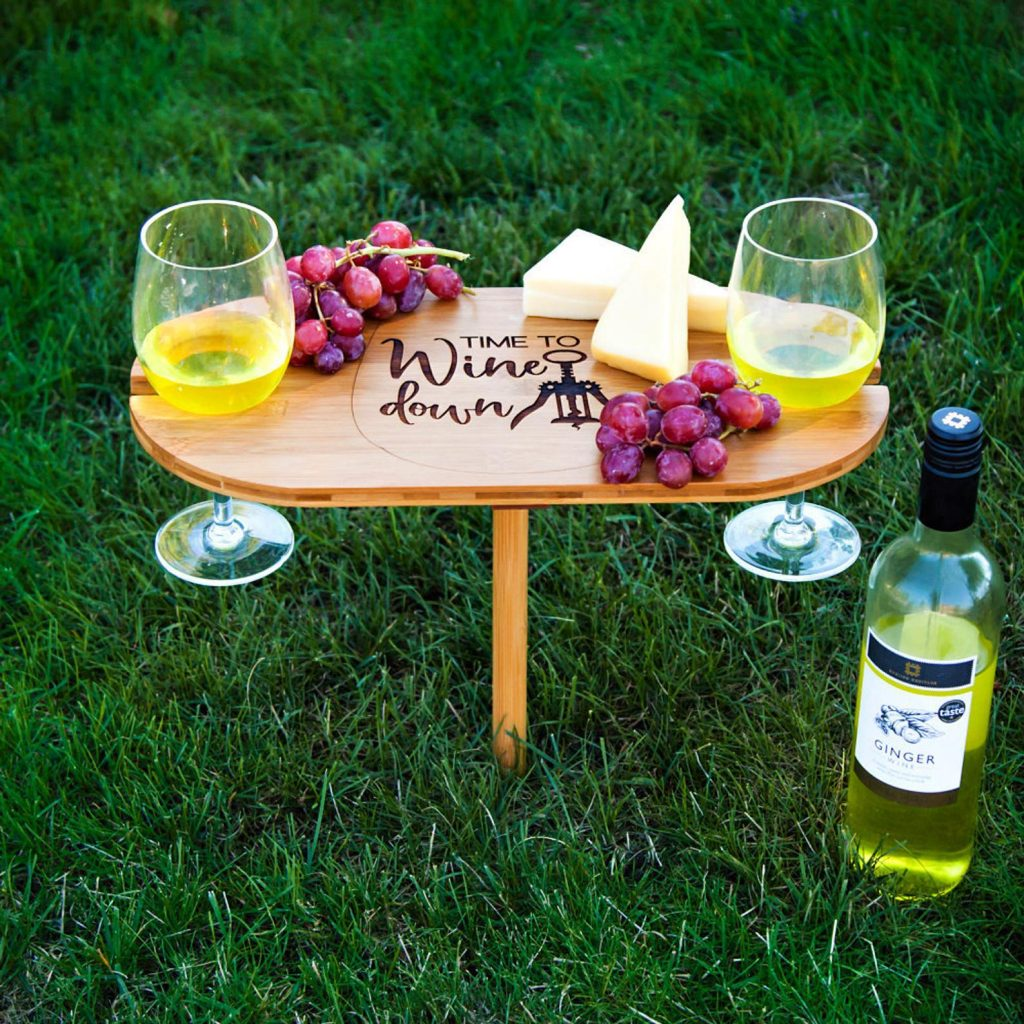 picnic wine and cheese stand