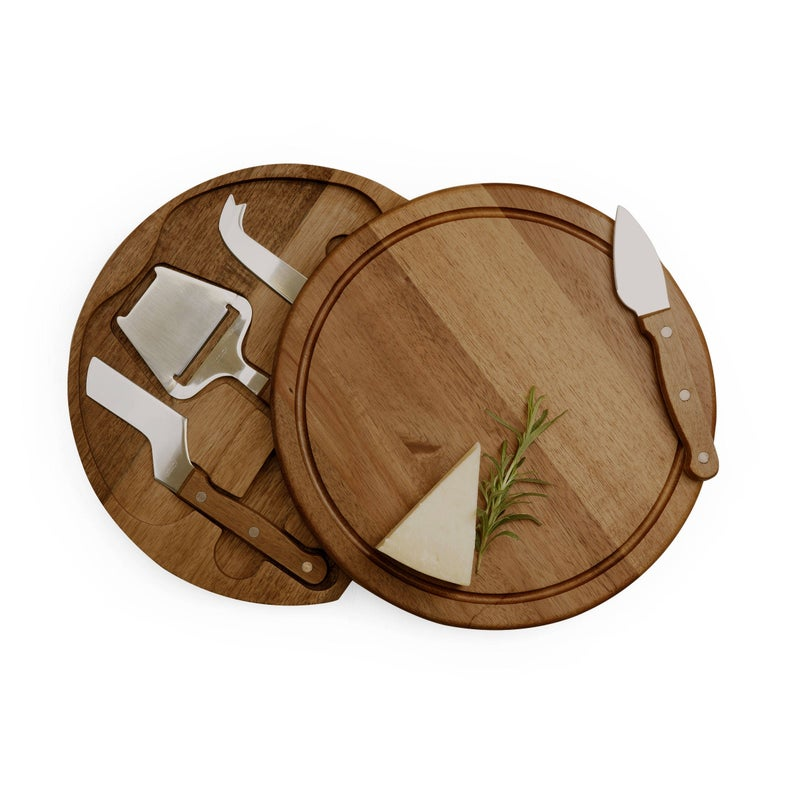 Personalized Cheese Cutting Board With 3 Knives and slicer