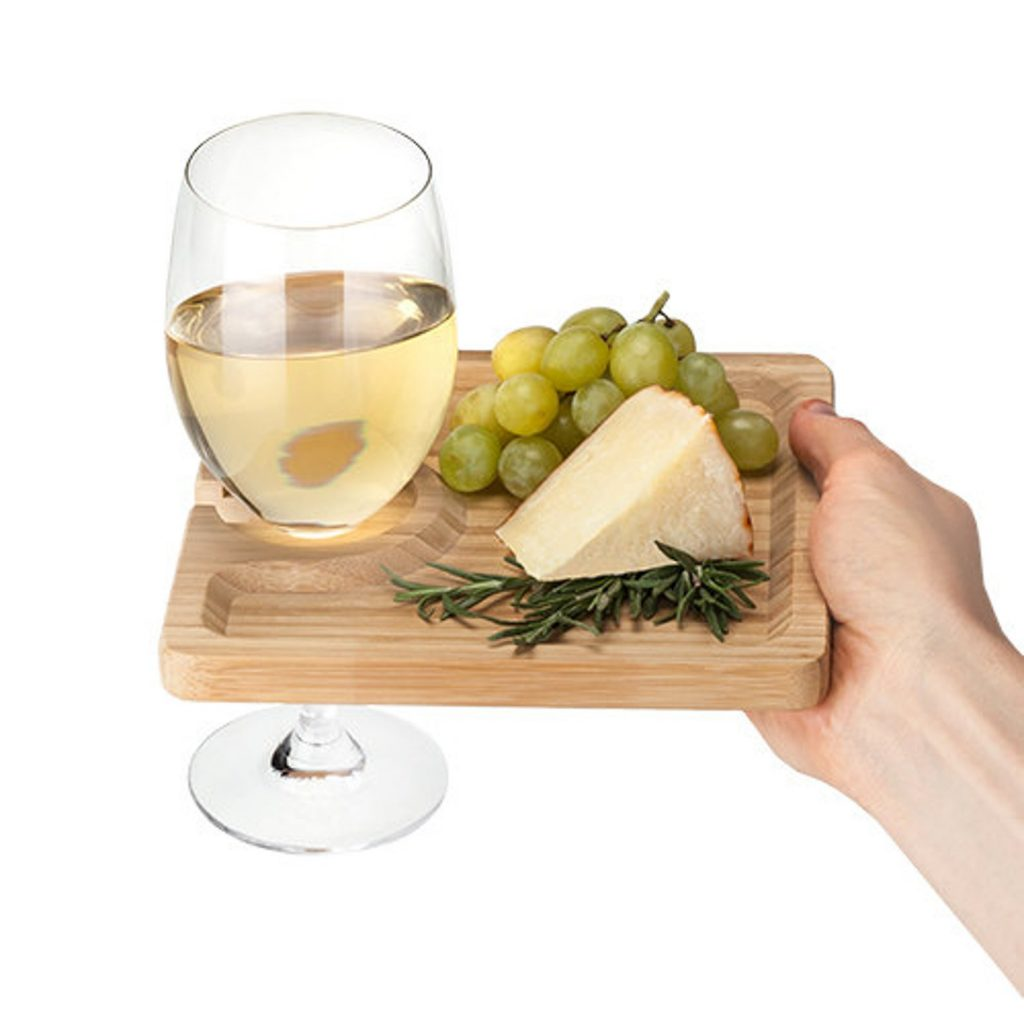 wine and cheese party plate