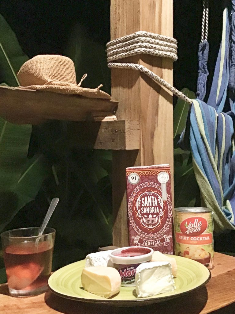 A More Tropical Version of Wine and Cheese with Santa Sangria and Le Chaudron cheeses