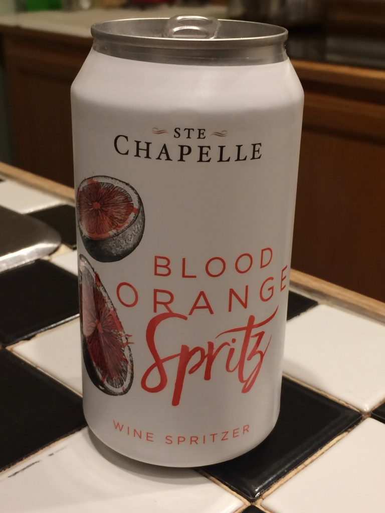 canned wine cocktail- Ste Chapelle Blood Orange Spritz
