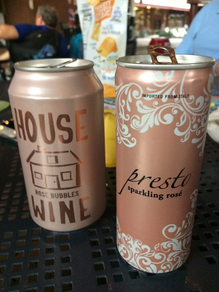 canned wines-House Wine Rosé and Presto Sparkling Rosé