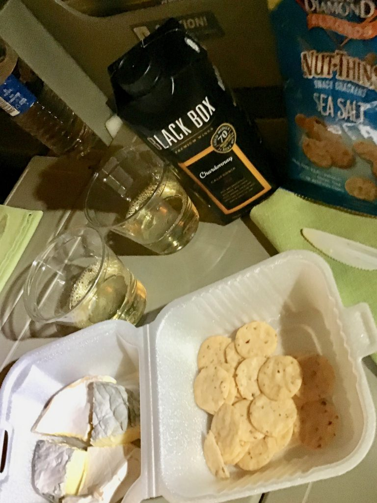 Black Box Chardonnay, handmade camembert and Ashley cheese by MouCo