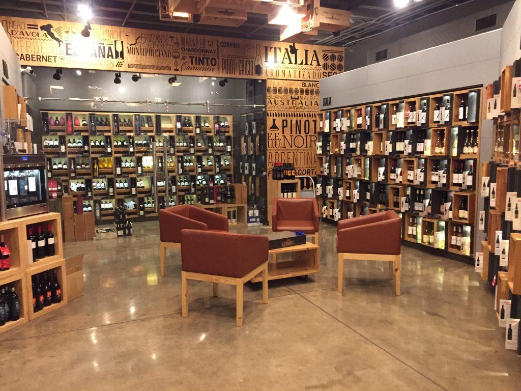 the exclusive wines room at Bottega Wine Shop, San Jose, CR
