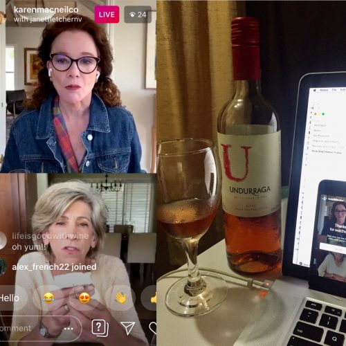 IG wine and cheese livestream with Janet Fletcher and Karen MacNeil