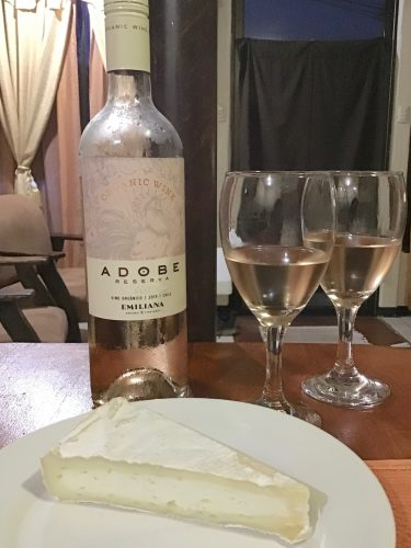 Emiliana Adobe Rosé Reserva and Goat's Milk Brie