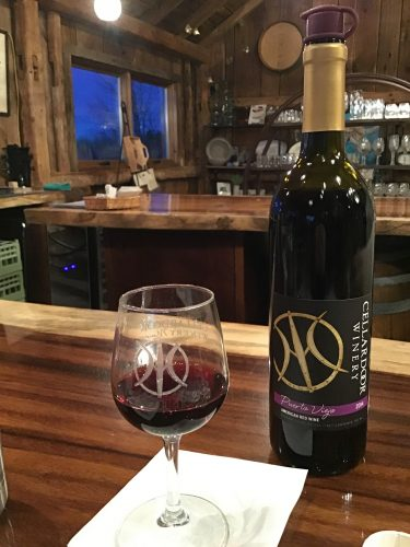 Puerto Viejo red blend at Cellar Door Winery