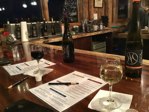 Tasting notes at Cellar Door Winery