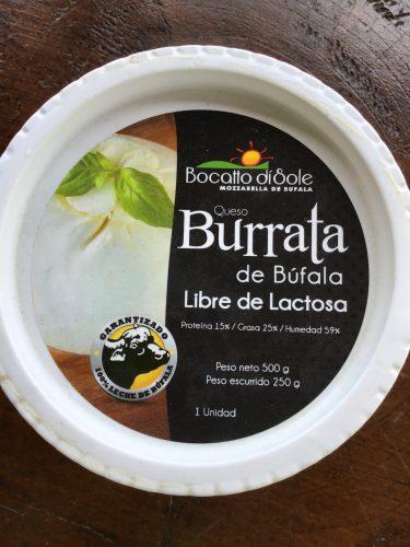 Burrata made here in Costa Rica