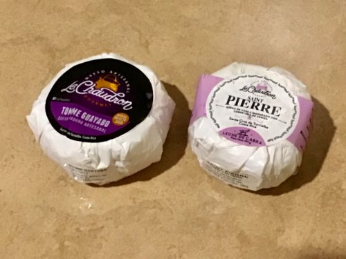 Le Chaudron cheeses- Tomme Guayabo and Saint Peirre, made in Costa Rica
