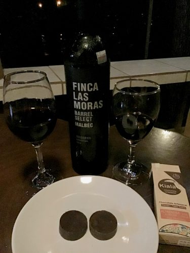 Finca Las Moras Barrel Select Malbec and Kiala artesanal chocolate