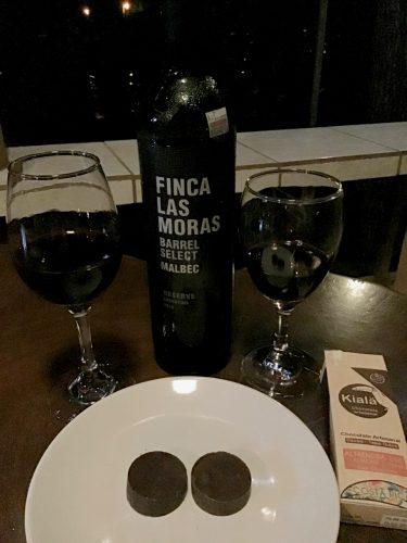Finca Las Moras Barrel Select Malbec and Kiala artesanal chocolate