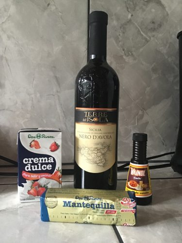 Nero d'Avola and other non chocolate ingredients