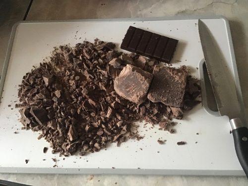 approximately 20 oz of chocolate