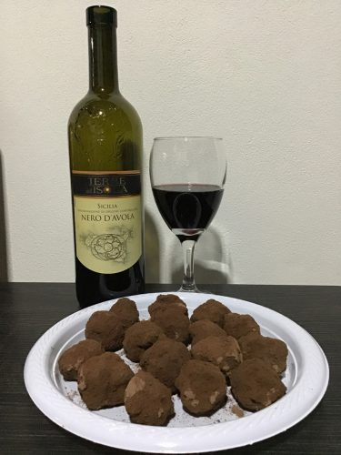 handmade red wine truffles